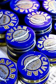 caviar in tins
